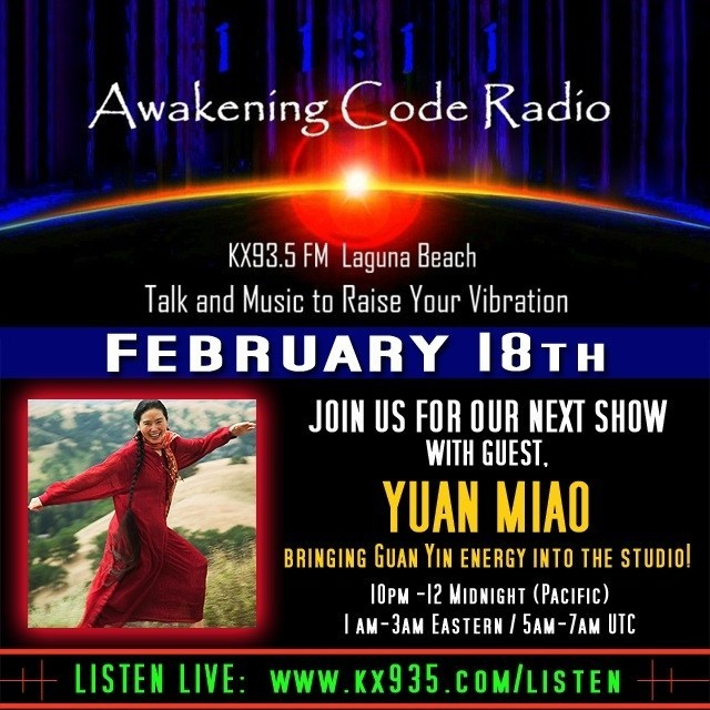 Yuan Miao was interviewed on Awakening Code Radio on Feb. 18, 2014